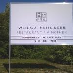 Weingut Heitlinger Aussenschild